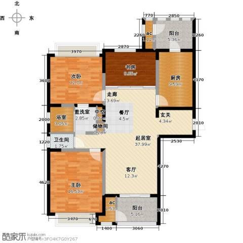 北极星花园3室0厅1卫1厨121.00㎡户型图