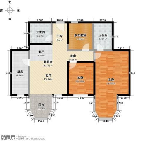 合生・滨江帝景2室0厅2卫1厨112.00㎡户型图