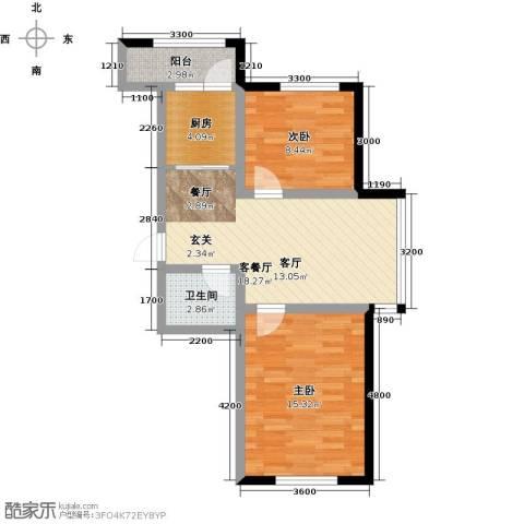 诺睿德国际商务广场2室1厅1卫1厨81.00㎡户型图