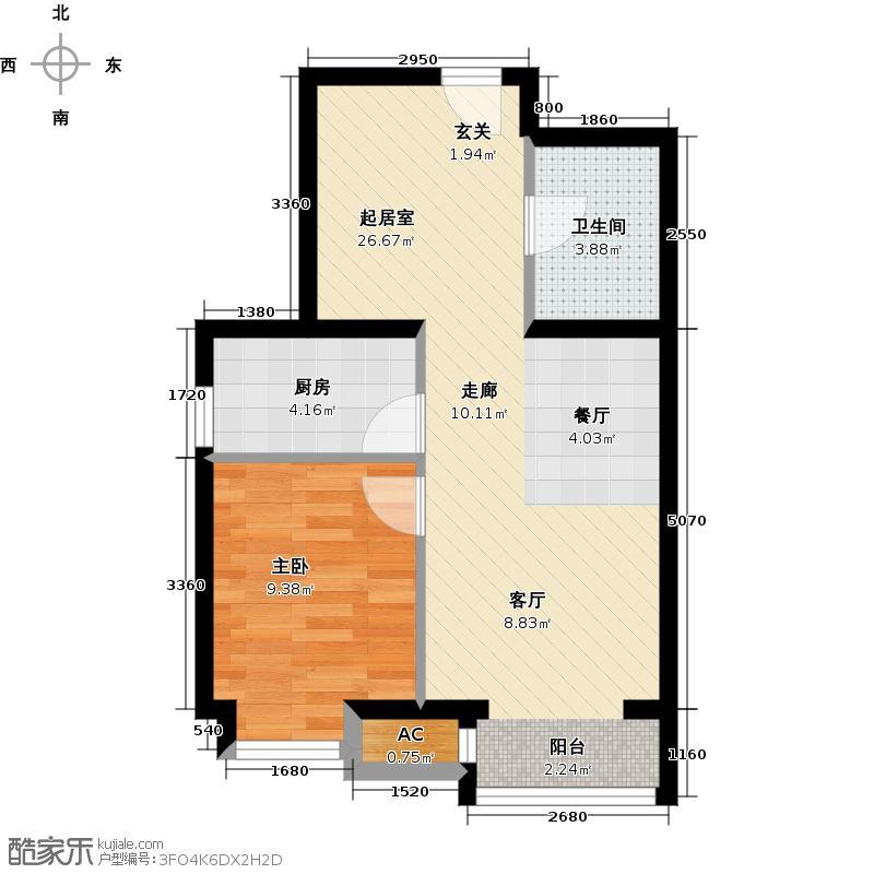 呼和浩特永泰城F2户型图户型2室2厅1卫