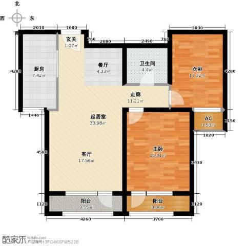 新华联雅园2室0厅1卫1厨92.00㎡户型图