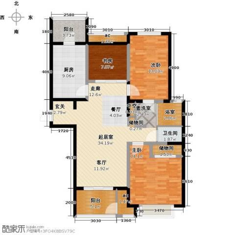 北极星花园3室0厅1卫1厨112.00㎡户型图