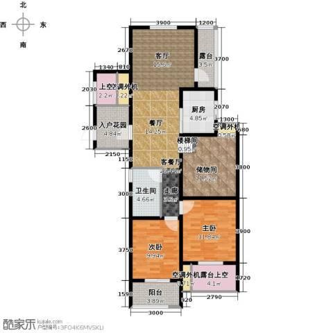 翰林世家2室1厅1卫1厨98.00㎡户型图