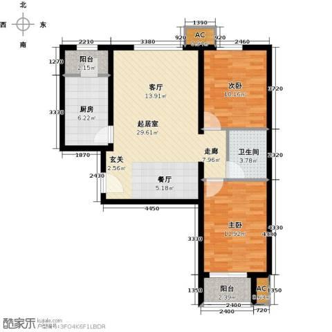 呼和浩特永泰城2室0厅1卫1厨94.00㎡户型图