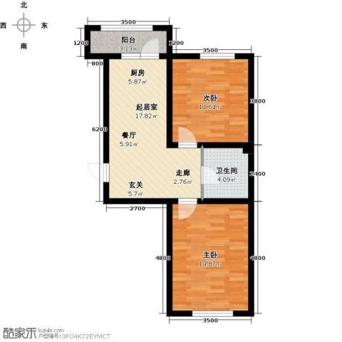 诺睿德国际商务广场2室0厅1卫0厨76.00㎡户型图