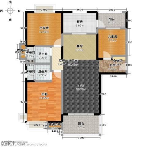 九江碧桂园2室0厅2卫1厨123.00㎡户型图