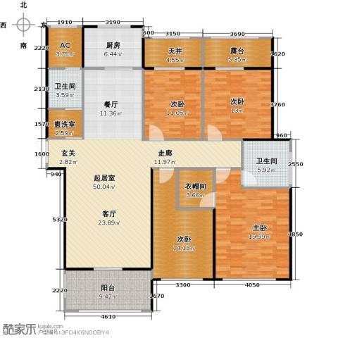 万联凤凰城4室0厅2卫1厨165.00㎡户型图
