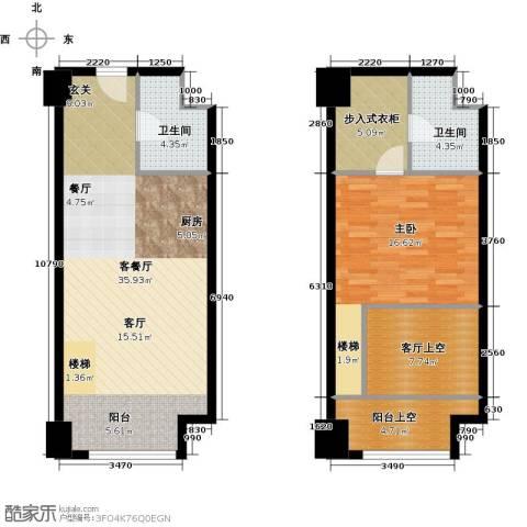 金地紫云庭1室1厅2卫0厨78.81㎡户型图