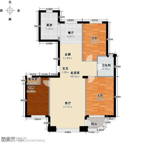 怡景湾壹号3室0厅1卫1厨115.00㎡户型图