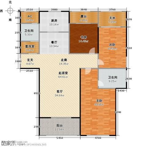 万联凤凰城3室0厅2卫1厨188.89㎡户型图