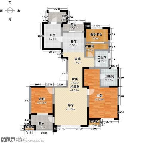 融绿�园2室0厅2卫1厨138.00㎡户型图