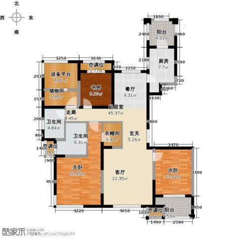 融绿�园3室0厅2卫1厨155.00㎡户型图