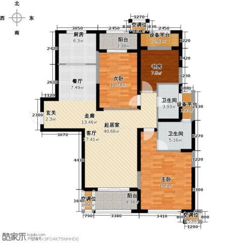融绿�园3室0厅2卫1厨125.00㎡户型图