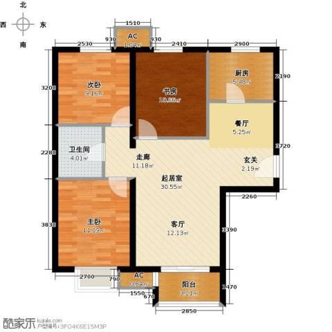 呼和浩特永泰城3室0厅1卫1厨103.00㎡户型图
