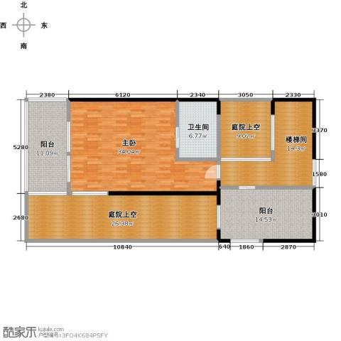 中信庐山西海1室0厅1卫0厨129.00㎡户型图