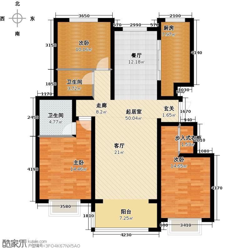 盛世名筑148.00㎡C4户型3室2厅2卫