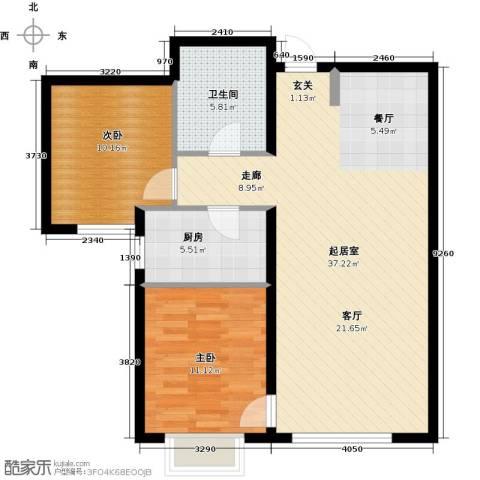 融域1342室0厅1卫1厨94.00㎡户型图