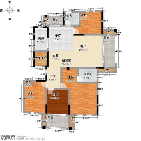 中港城世家4室0厅2卫1厨177.00㎡户型图