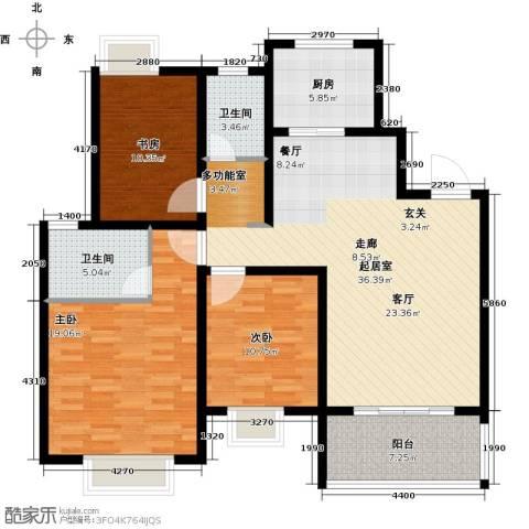 商城凤凰印象3室0厅2卫1厨112.00㎡户型图