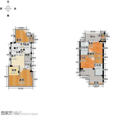 陶然湾2室1厅3卫0厨117.00㎡户型图