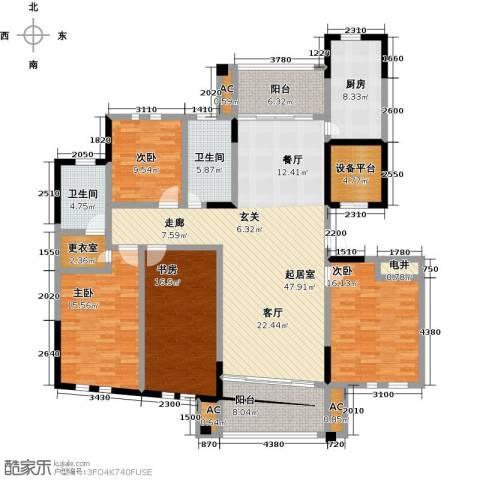 中港城世家4室0厅2卫1厨173.00㎡户型图