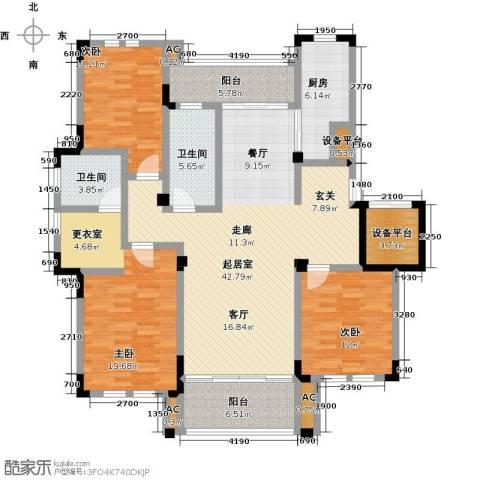 中港城世家3室0厅2卫1厨141.00㎡户型图