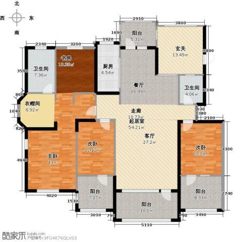 听雨观澜电梯洋房3室0厅2卫1厨256.00㎡户型图