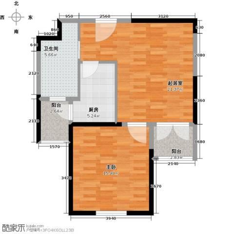 天保月湾1室0厅1卫1厨63.00㎡户型图