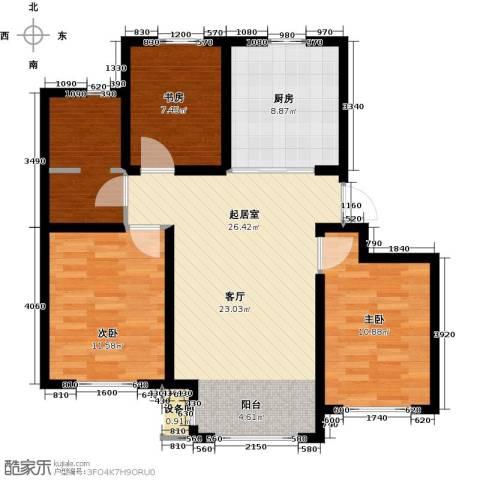 青果青城3室0厅1卫1厨101.00㎡户型图