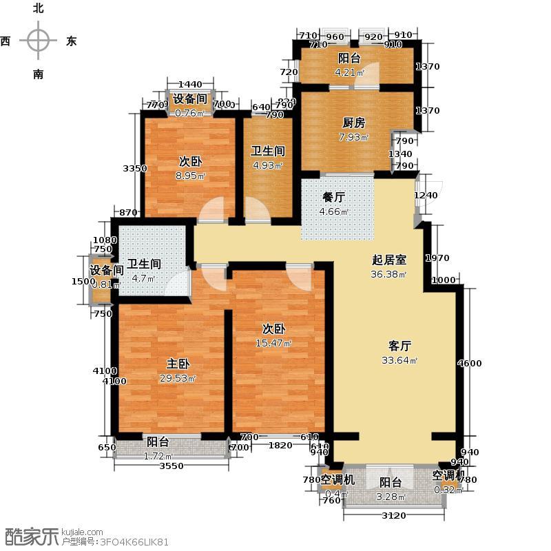 龙泽馨园154.07㎡Y户型4室2厅2卫
