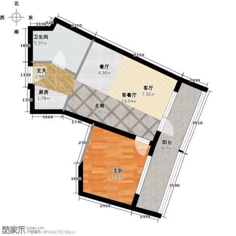 海天翼1室1厅1卫0厨69.00㎡户型图