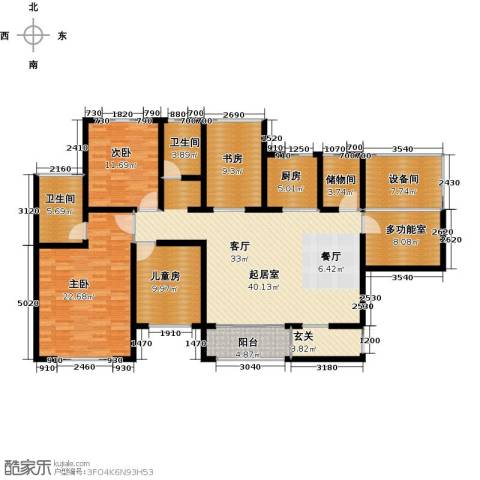 香榭兰廷4室0厅2卫1厨142.00㎡户型图
