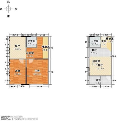 广天国际公寓2室0厅2卫1厨111.00㎡户型图