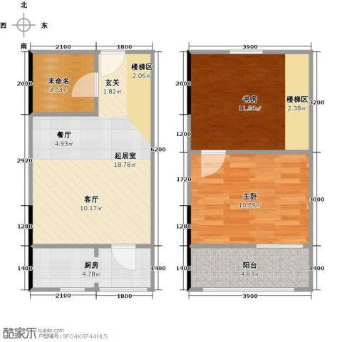 广天国际公寓2室0厅0卫1厨54.64㎡户型图