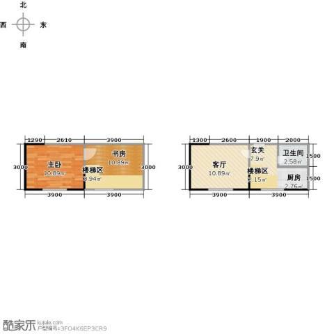 广天国际公寓2室1厅1卫0厨59.00㎡户型图