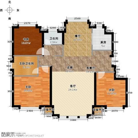 国盛南域枫景3室1厅1卫1厨120.00㎡户型图
