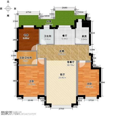 国盛南域枫景3室1厅1卫1厨104.00㎡户型图