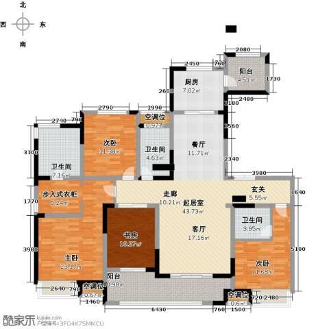 融绿�园4室0厅3卫1厨205.00㎡户型图