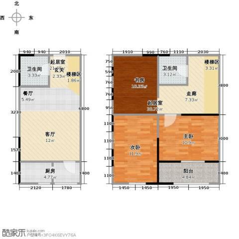 广天国际公寓2室0厅2卫1厨81.05㎡户型图