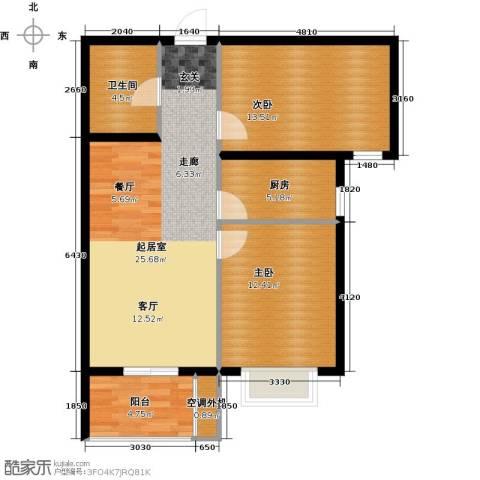 光华里2室0厅1卫1厨74.00㎡户型图