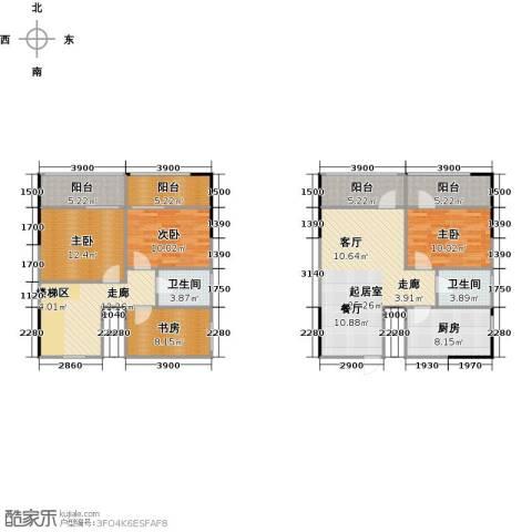 广天国际公寓4室0厅2卫1厨156.00㎡户型图