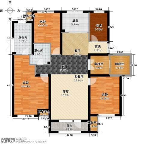 绿地国际花都4室1厅2卫1厨134.00㎡户型图