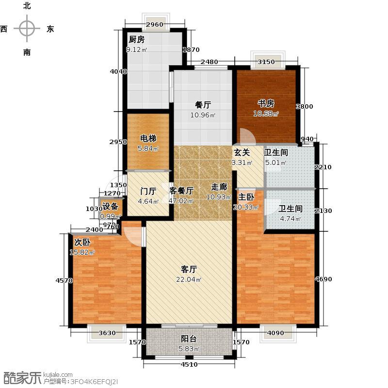 青岛印象山146.00㎡青岛印象山146.00㎡3室2厅2卫户型3室2厅2卫
