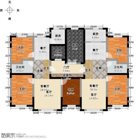 卓扬北湖湾5室2厅2卫2厨152.82㎡户型图