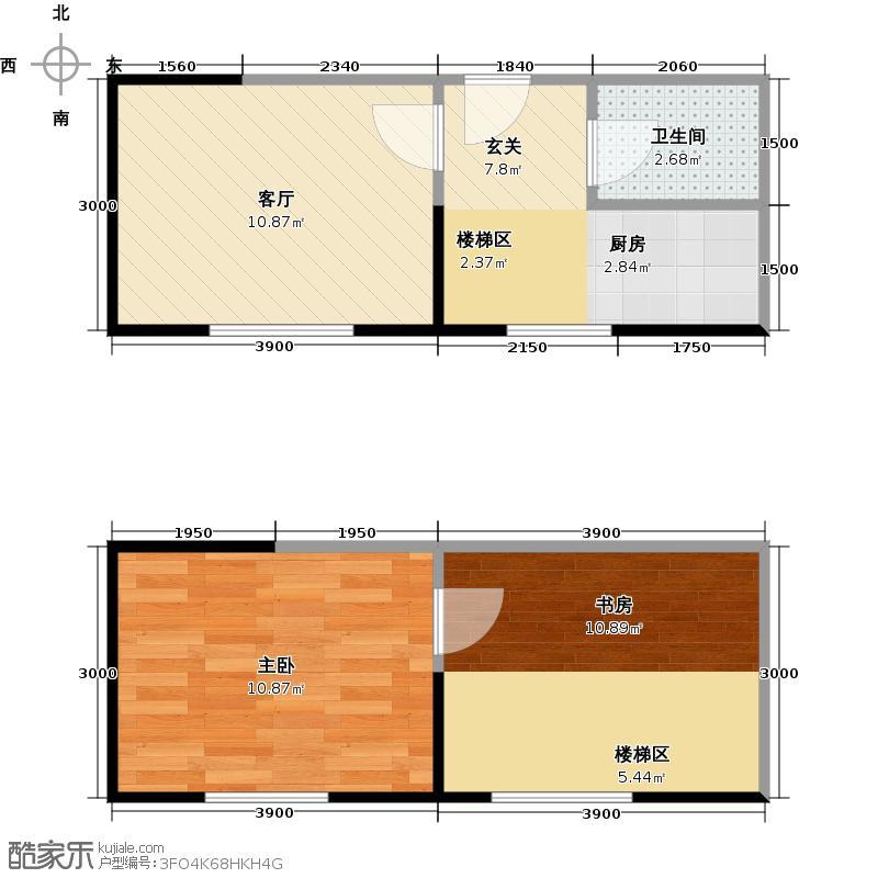 广天国际公寓33.61㎡E户型1室1厅1卫