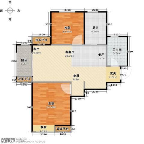 海信天山郡2室1厅1卫1厨88.00㎡户型图