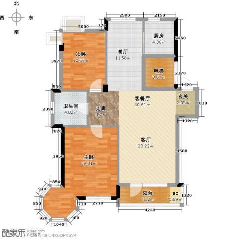 丽湖名居2室1厅1卫1厨112.00㎡户型图