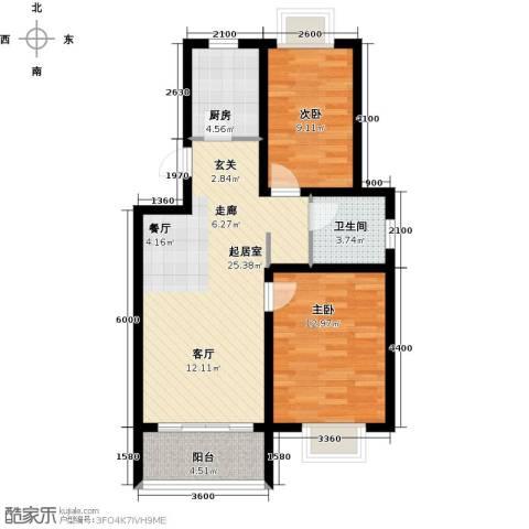 海通港城花园2室0厅1卫1厨78.00㎡户型图