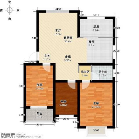 海通港城花园3室0厅1卫1厨104.00㎡户型图