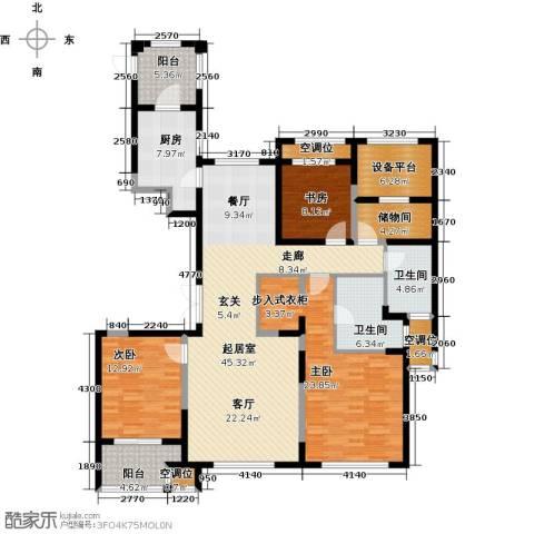 融绿�园3室0厅2卫1厨194.00㎡户型图